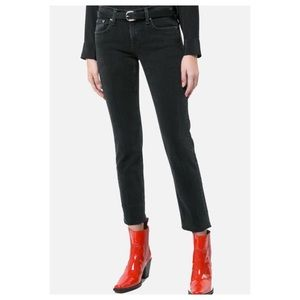 RAG & BONE Ankle Dre in Kuro Black Jeans